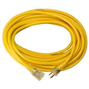 Yellow Jacket Extension Cords 2883 12 3 Heavy duty 15 amp Sjtw Contractor With