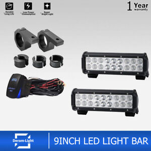 2x 9 Combo 54w Led Work Light Bar Offroad Drl Lamp For 4x4 Driving Truck Jeep