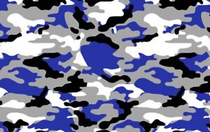 Blue Black White Gray Camouflage Vinyl Car Wrap Sheet Free Tools 2 Feet Up