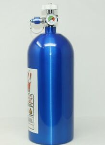10lb 10 Lb Nitrous Bottle W High Flow Valve Gauge New