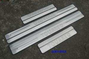 Stainless Steel Outer Door Sill Scuff Plate Cover For Volkswagen Touareg 2011 18
