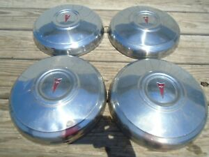 Pontiac Dog Dish Hubcaps Set Of 4 Stainless Steel Oem