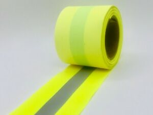 Yellow Sew On Reflective Fabric Vest Trim Sold Per Yard