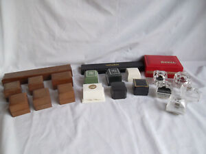 Assorted Vtg Plastic Presentation Display Jewelry Ring Bracelet Watch Box Lot
