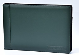 Leather 7 Ring Business Check Binder For 3 On A Page Checks By David Nathan Lea