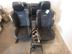 15 17 Dodge Challenger Srt Hellcat Front Rear Seat Black Leather Suede No Consol