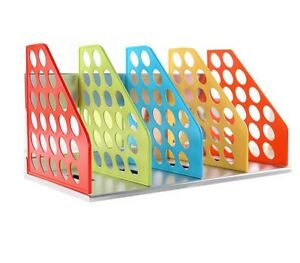 Document Trays Desk Organizer Office Filing Trays A4 Holder Racks File Plastic