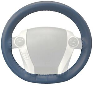 Wheelskins Sea Blue Genuine Leather Steering Wheel Cover For Chrysler size Ax