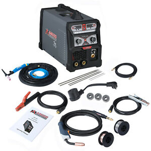 Mts 205a Mig Flux Cored Wire Tig Torch Stick Arc Welder 3 in 1 Combo Welding