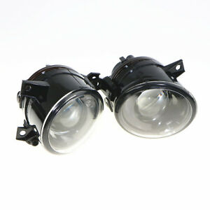 Convex Lens Fog Lights Lamps For Vw Amarok Jetta Golf Mk5 Rabbit Scirocco Skoda