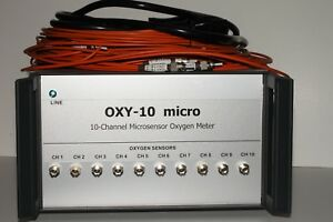 Presens Oxy 10 Micro 10 channel Microsensor Oxygen Meter W Extension Cables