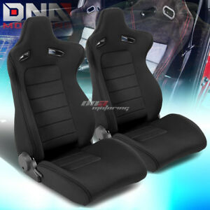 Pair Type Xl10 Black Sports Jdm Racing Seats Mounting Slider Rails Left Right