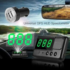 Universal Gps Hud Digital Head Up Display Car Truck Speedometer Speed Warning A