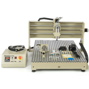 Usb Cnc Router 4axis 6090 6040 2200 1500w Metal Ngraver Milling Drilling Machine