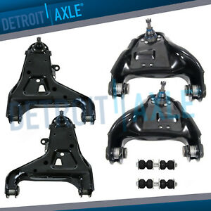 Front Upper Lower Control Arms Sway Bar Links For Chevy Blazer S10 Pickup