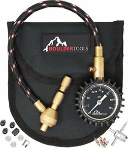 Boulder Tools All New Heavy Duty Rapid Tire Deflator Kit With Valve Caps Cores