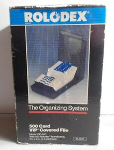 New Rolodex Vip24c 500 Card Vip Covered File Office Organizing Dividers 1989