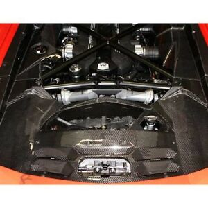 Lamborghini Aventador Carbon Fiber 5 piece Engine Bay Kit Choose Gloss Or Matte