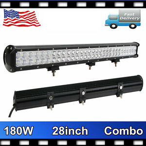 28inch 180w Cree Led Work Light Bar Combo Driving Off road 4x4 Atv Car Boat Jeep