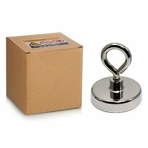 375 Lbs Pulling Force N52 Super Powerful Strong Round Neodymium Fishing Magnet