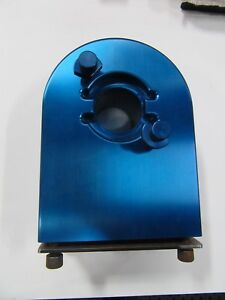 Custom Machined Bt40 Taper Tool Holder Fixture Solid 7075 Blue Anodized