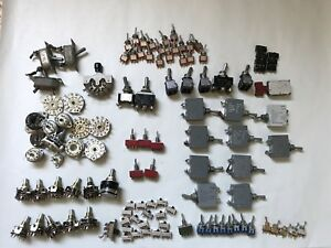 Lot 115pc Vtg Nos Switch Grayhill Rotary Toggle More