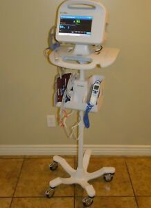 Welch Allyn 6000 Series 64nxxx Vital Signs Patient Monitor W Rolling Stand