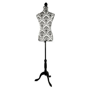 Stand Half length Foam Mannequin Clothing Display White Ground Black Decor Us