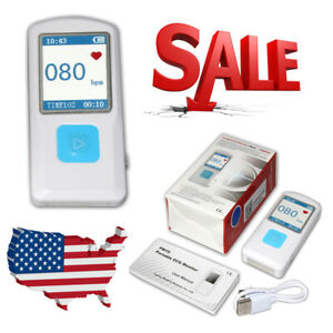 Us Fda Portable Ecg ekg Machine Record Heart Rate Monitor pc Software Bluetooth