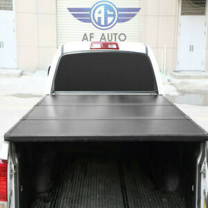 Lock Hard Solid Tri fold Tonneau Cover For Ford F 150 2004 2018 5 5ft Truck Bed