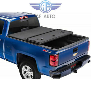 Jdmspeed For 14 18 Chevy Silverado Gmc Sierra Hard Tri fold Tonneau Cover 5 8 Ft