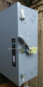 Siemens Ite 400amp 3 Pole Enclosed No Fuse Switch nf355 type 1 B Series 600v