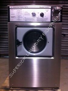 Wascomat Junior W75 Washer 18lb 220v 3ph Coin Slide Reconditioned