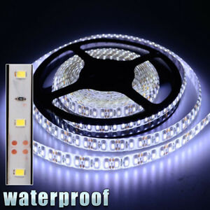 12v Waterproof Led Strip Light 5m 300leds For Boat Truck Car Suv Rv White