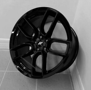 Dodge Hellcat Widebody Gloss Black Wheels Set 20x9 5 20x10 5 Challenger Charger