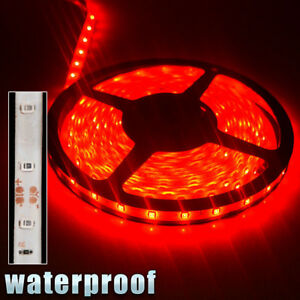 12v Waterproof Led Strip Light 5m 300leds For Boat Truck Car Suv Rv Red