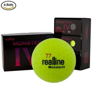 Realline Monster 4 Golf Ball Ultra Distance For Driver Iron And Accuracy Balance