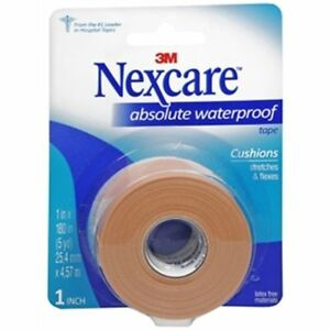 Mckesson Waterproof Tape Nexcare 6 Count 1 x180 Sticks When Wet Stretches Flex