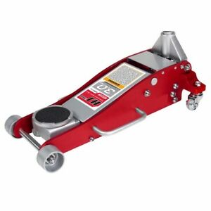 3 Ton Heavy Duty Aluminum Steel Ultra Low Profile Floor Jack Rapid Pump