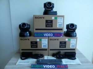 3x New Sony Evi D100cp Pal Video Webtv Streaming Pan Tilt Zoom Camera Srg Brc Hd
