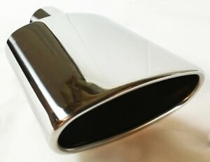 Exhaust Tip 6 0 X 2 25 Outlet 9 0 Long 2 25 Inlet Rolled Oval Angle Woa600250
