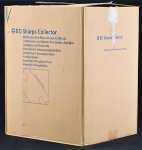 New 24x Bd 305488 3 1l 3 3qt Sharps Disposal Biohazard Waste Collector Container