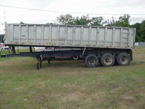 1987 And 1991 East End Dump Trailer With Lift Axle