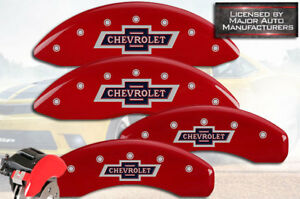 2015 2018 Chevrolet Suburban Front Rear Red Mgp Brake Disc Caliper Covers 4p