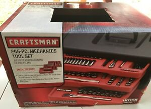 Nos Craftsman Usa Made 245 Pc Mechanics Tool Set 9 33245