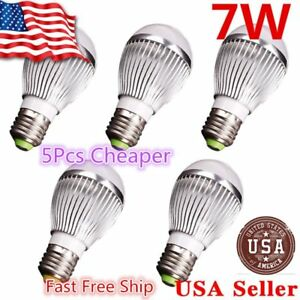 5x Super Bright High Power 7w 12v E27 Home Led Bulb Rv Lights White Light E26 C