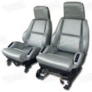 84 88 Corvette Sport Leather Seat Covers 4205__
