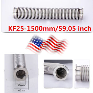 Bellows Hose Kf 25 1500mm 59 05 Inch Tubing Iso kf Flange Size Nw 25 Us Stock