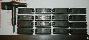 Letterpress Printing Printer Block Metal Type Wickersham Quoins 16 Key 1923