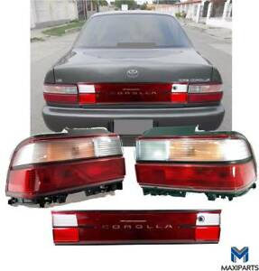 Toyota Corolla 1993 1997 Jdm Tail Lights And License Board Clear And Red 3pcs